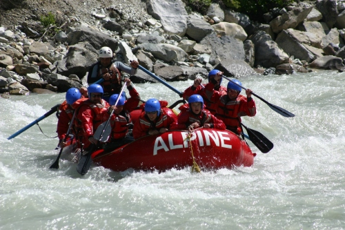 White Water Rafting the Kicking Horse