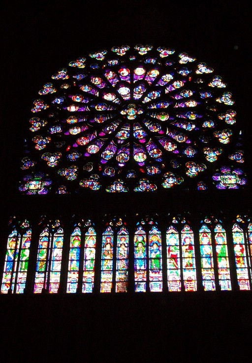 North Rose Window at Notre Dame - Paris, France