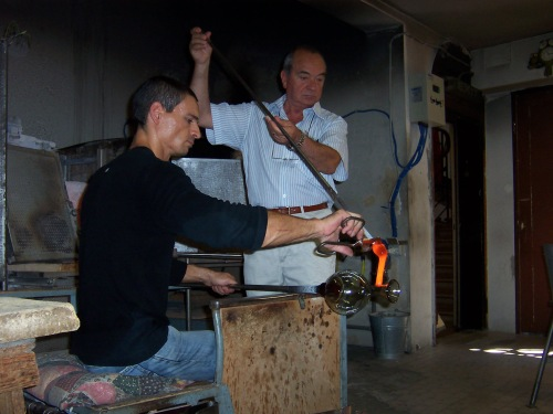 Venetian glass blowers - Venice, Italy