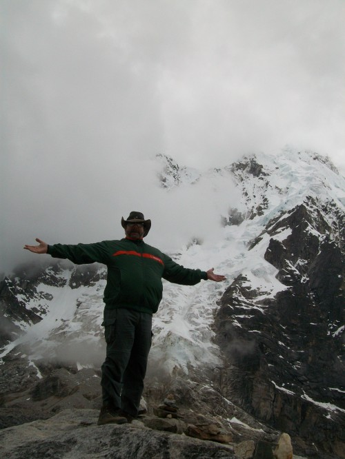 Me at the Salkantay Pass on the Inca Trail in Peru