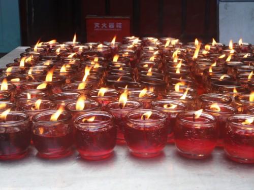 Candles - Buddhist Temple - Chendu