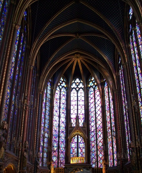 Windows of St. Chapelle - Paris