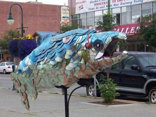 Salmon Sculpture - Anchorage, Alaska