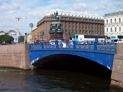 The Blue Bridge - St. Petersburg, Russia