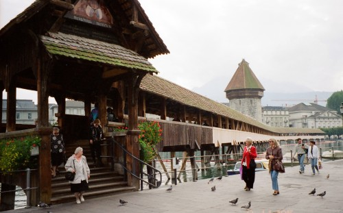 Kapellbrucke (Chapel Bridge) - Luzern, Switzerland