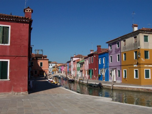 Houses of Burano, Italy
