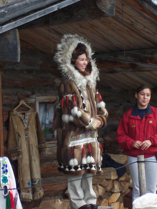 Chena Indian Village Fairbanks, Alaska.