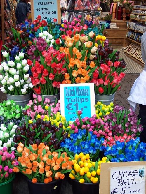 Wooden Tulips at Bloemenmarkt - Amsterdam