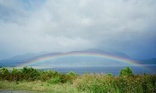 Rainbow over Lake Wakatipu - New Zealand