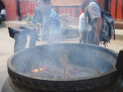 Fire: Sacrament Cauldron at Buddhist Temple