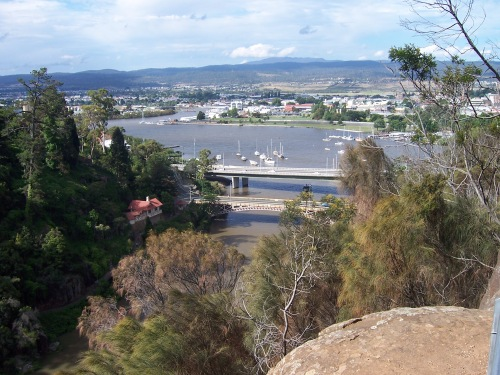 Kings Bridge, Paterson Bridge and Tamar River from the top of Cataract Gorge