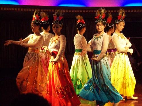 Dancers on Yangtze River Cruise, China