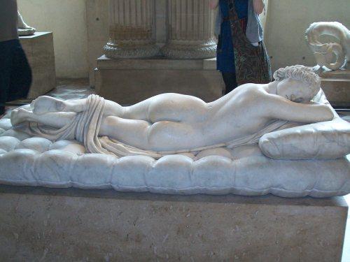 """Hermaphrodite Asleep"" back - Unknown Sculpture"