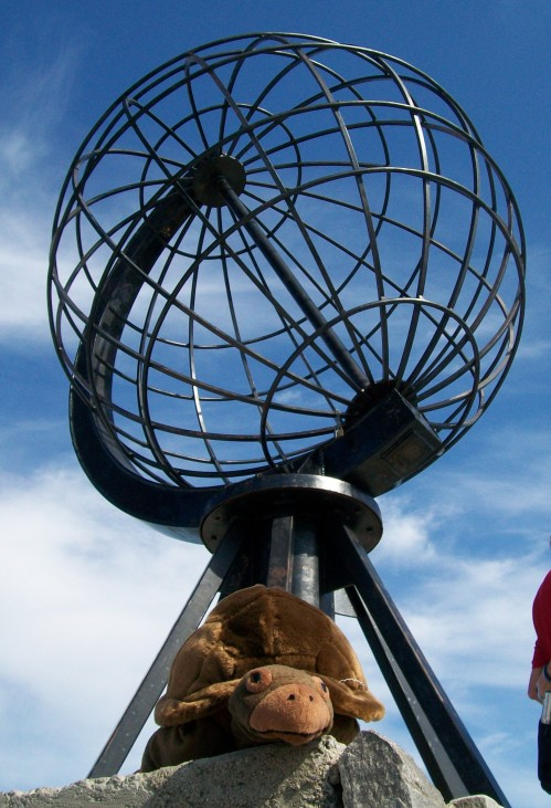 Lonesome George visits North Cape