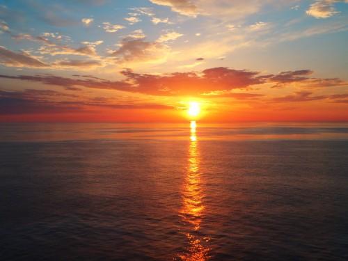 Midnight Sun over the Norwegian Sea