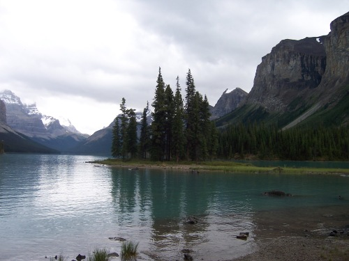 Spirit Island at Maligne Lake - Jasper National Park, Canada