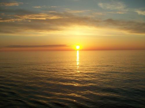 Sunset over the Norwegian Sea