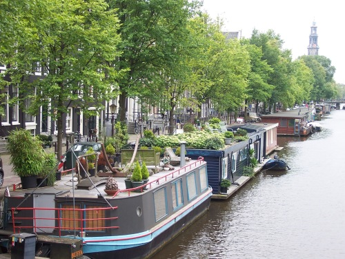 Houseboats on Amsterdam's Canans