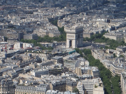 Arc de Trophe from Eiffle Tower