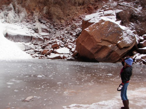 Winter in Zion NP