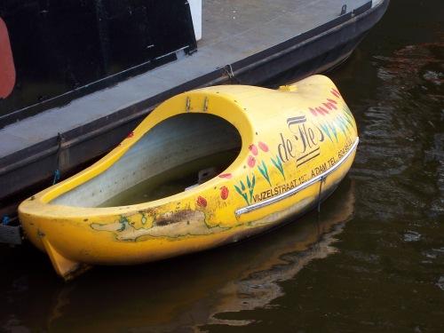 Wooden Shoe Boat - Amsterdam