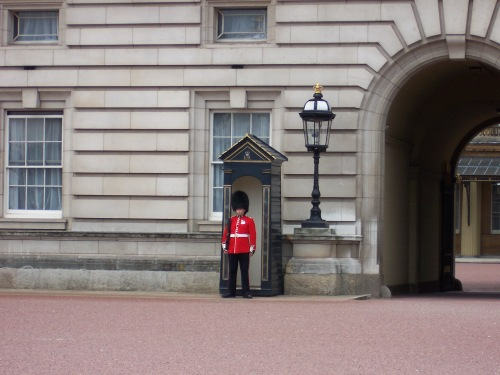 Guarding Buckingham Palace