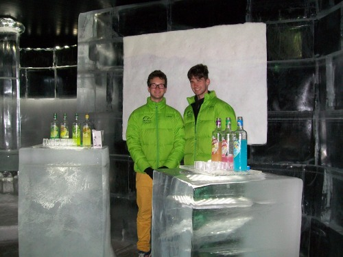 Work at the Honningsvag Ice Bar - Norway