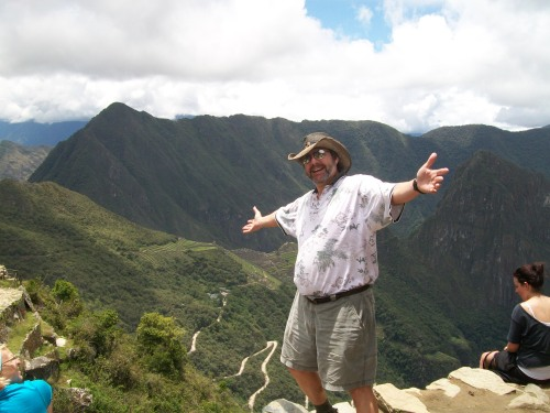 Machu Picchu from the edge of the Sun Gate